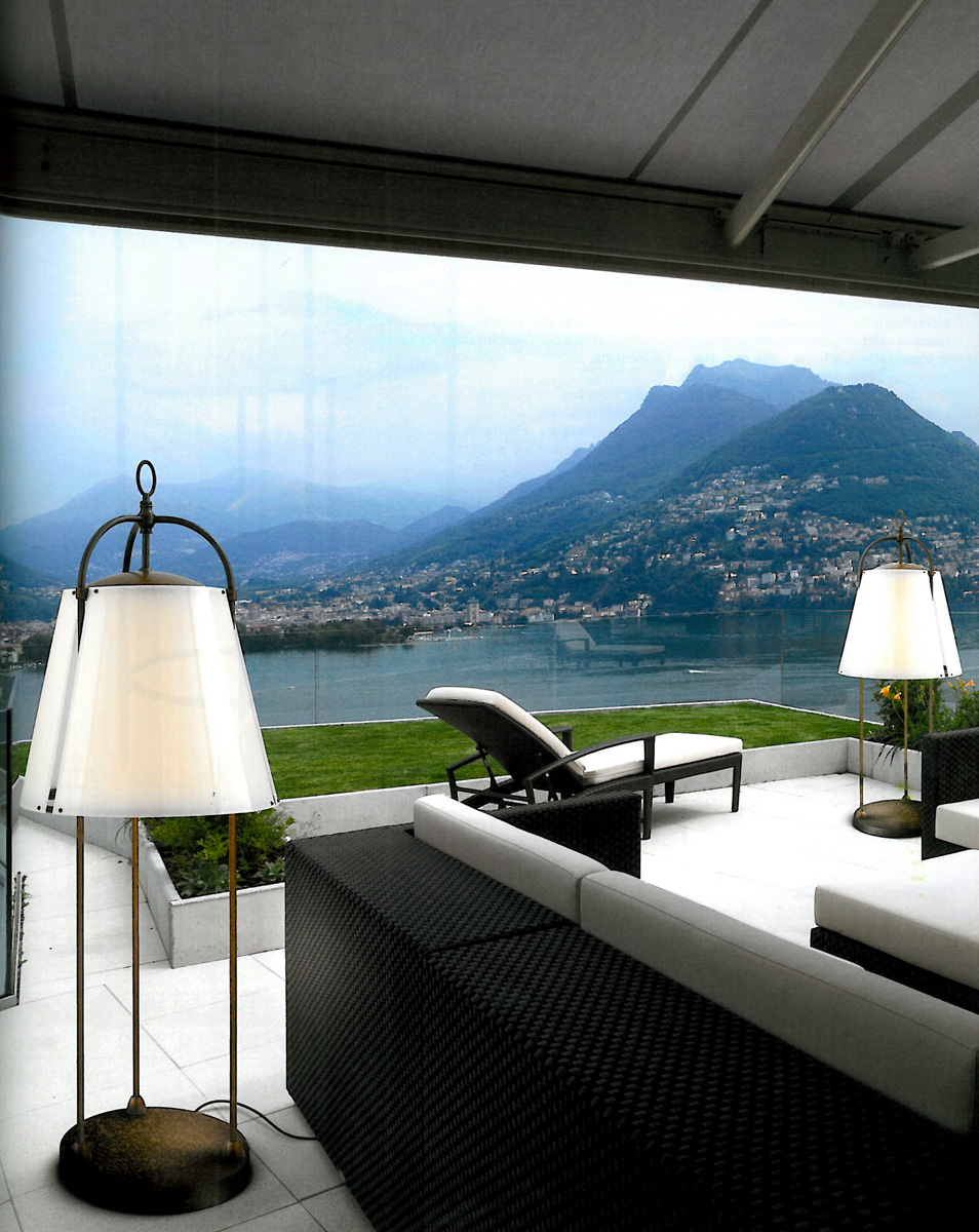 Aldo Bernardi Expands Line Of Outdoor Floor Lamps
